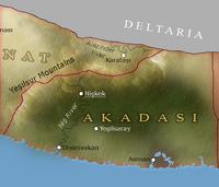 Map of Akadasi