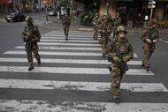Soldiers restoring order
