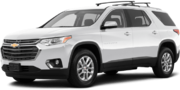 2019-Chevrolet-Traverse-white-full color-driver side front quarter