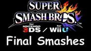 Super Smash Bros for Wii U 3DS - Characters Move Set & Final Smashes