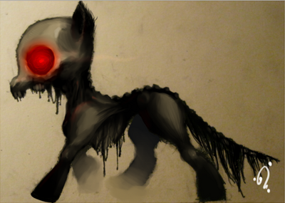 36944 - Story of the Blanks zombie pony