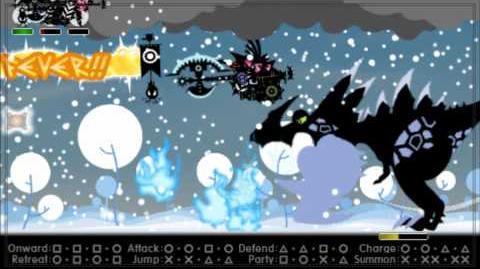 Patapon 3 Boss Ultimate Dragon Kacchindonga 3 w Tondenga