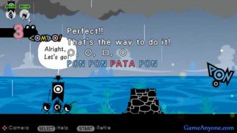 Let's Play Patapon 2 - Mission 2 - Hunting on Tochira Beach