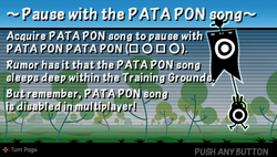 Pause with the PATA PON song