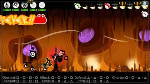 Patapon 3 Cave of Valor - Archfiend of Valor (Dodonga) level 3