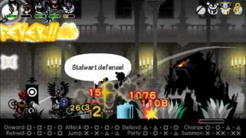 Patapon 3 Oohoroc Jewelsword staff glitch