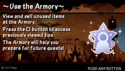 Use the armoury