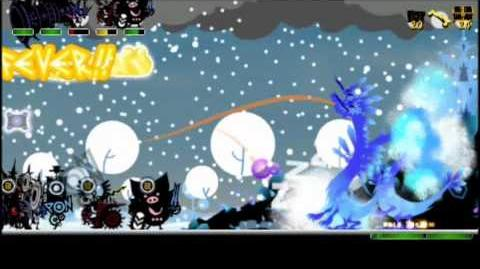 Patapon 3 Multi Blizzard Tower Ice Legion Run