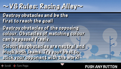 Vs rules racing alley