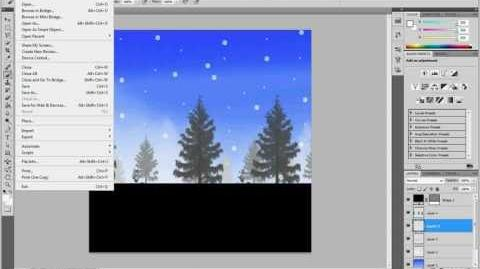How to make a Patapon Background Snow Plain