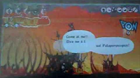 Patapon 2 walkthrough God general of spear, Kimen mission 37
