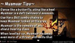 Myamsar tip card