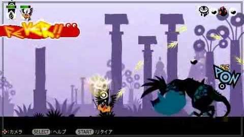 PATAPON 2 - Hero Yumipon VS. Dodonga Lvl