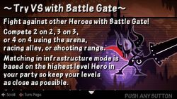 Try VS with Battle Gate