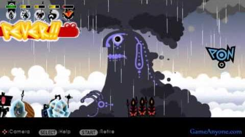 Let's Play Patapon 2 - Mission 13 - Pharamatara, Defender of the Sky