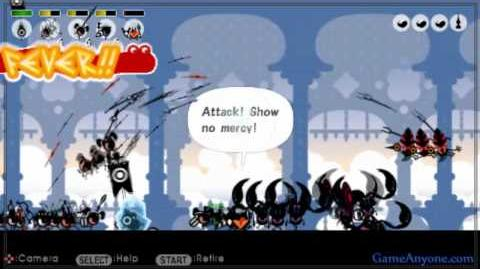 Let's Play Patapon 2 - Mission 14 - Sky Castle of the Gods