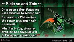Piekron and rain