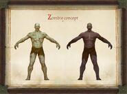 Pathfinder Kingmaker zombie concept art