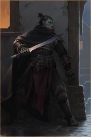 Half-orc male portrait