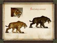 Pathfinder Kingmaker Smilodon concept art