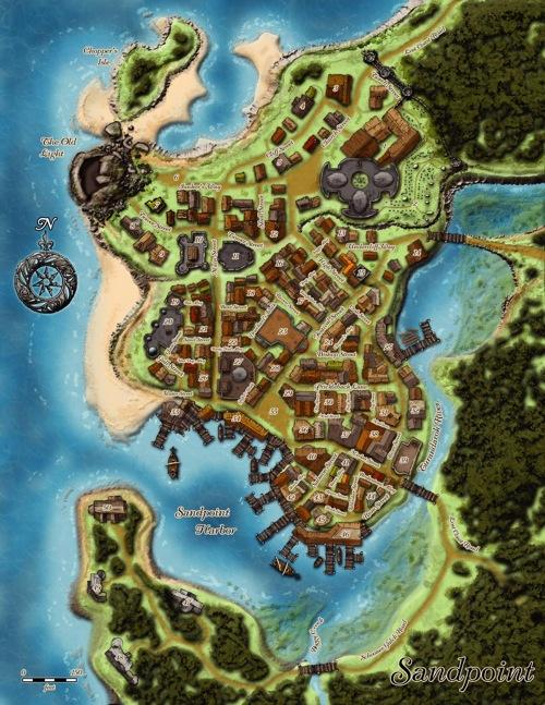 Sandpoint. Sandpoint Map