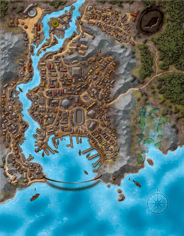 Delightful Map Of Riddleport