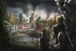 Meteor aftermath