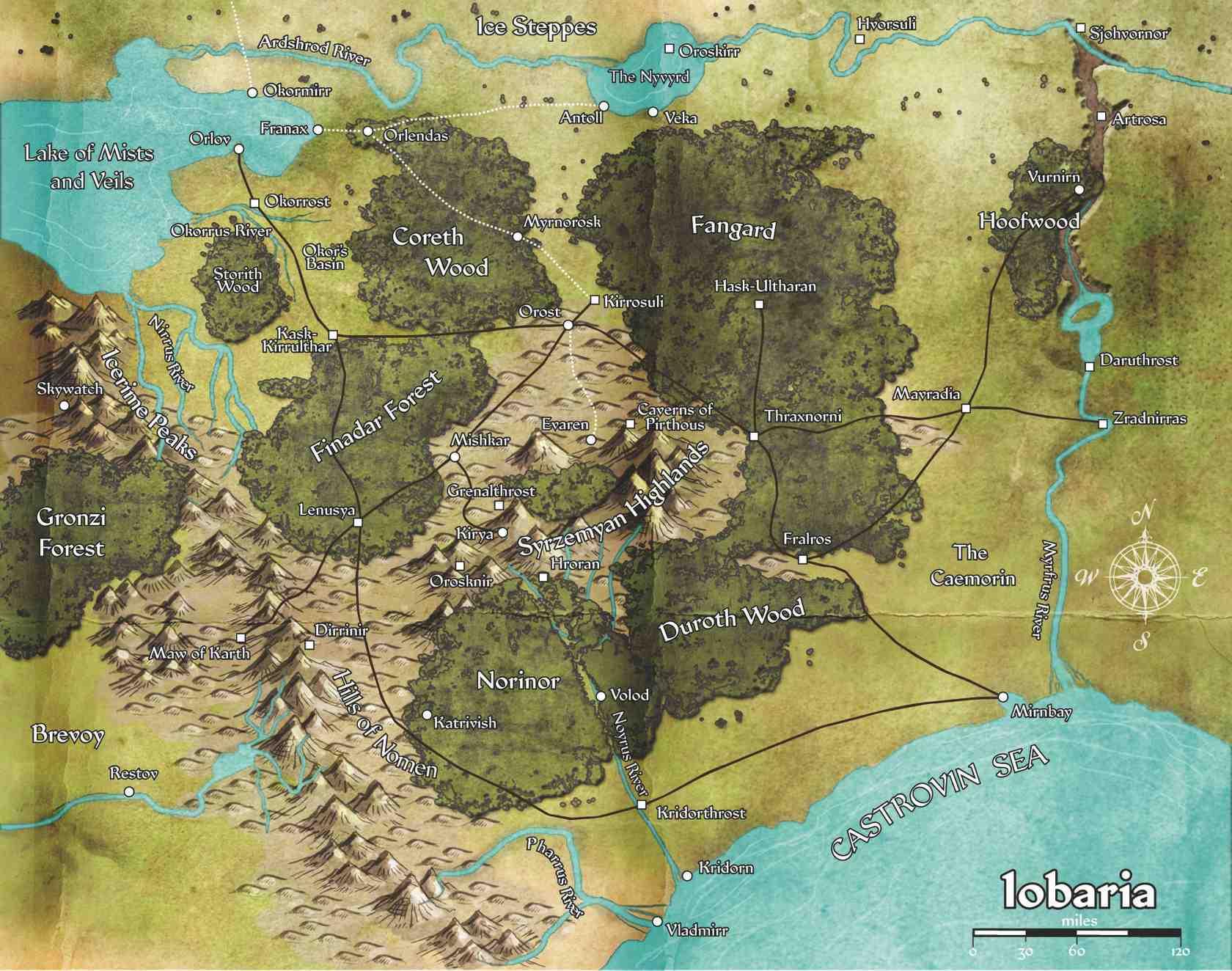 Captivating Iobaria Map