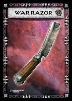 War razor item card