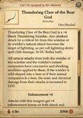 Thundering claw of the bear god