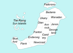 Map of Patriam states