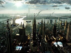 Future City from Above