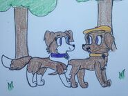 At with cuteandfuzzypuppies by magentapawprints-d8e992j