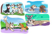 Paw patrol style doodles