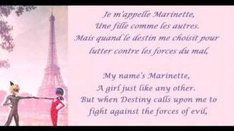 Miraculous Ladybug French lyrics (Fre Eng)