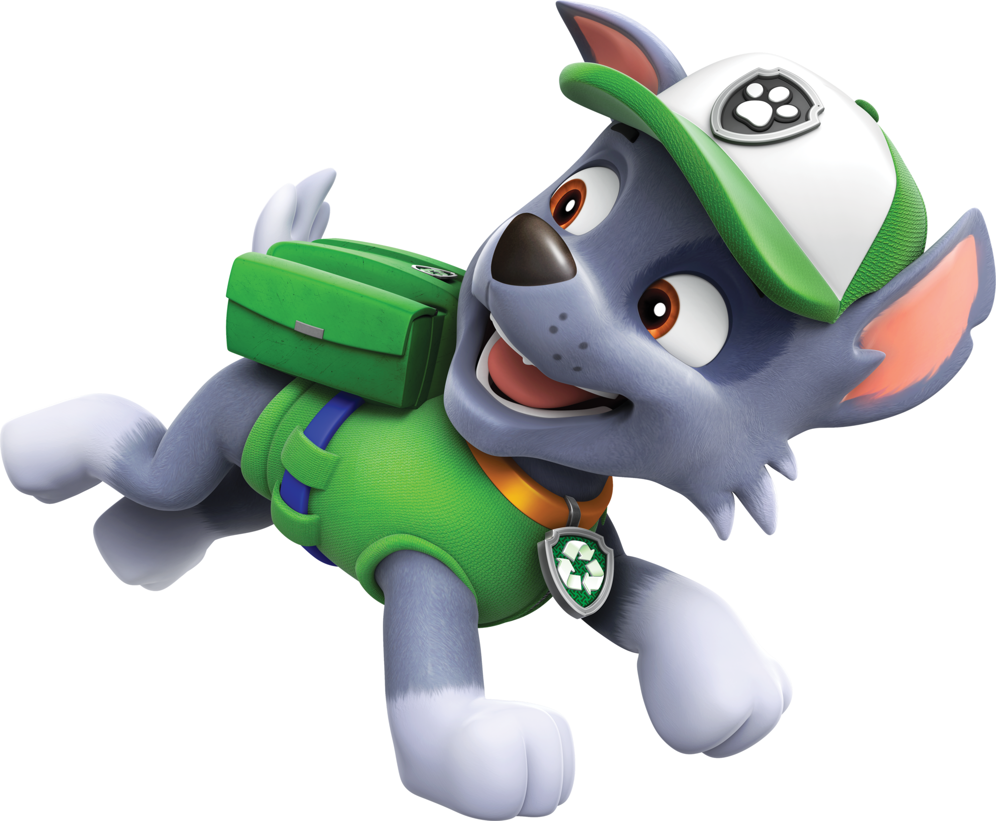 Attractive PAW Patrol Rocky Running.png