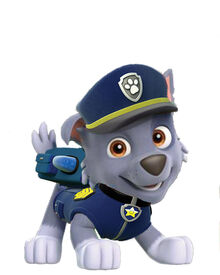 Rocky in Chase uniform