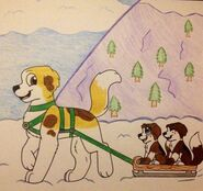 Sibling sledding~!