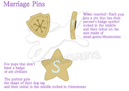 Marriage pins
