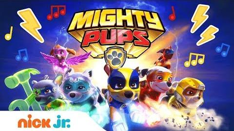 PAW Patrol's Mighty Pups 🐾 Theme Song Music Video Nick Jr.