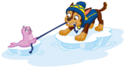 PAW Patrol Chase with the Baby Walrus Pup Winter 2