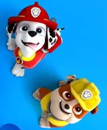 Marshall and rubble from paw patrol