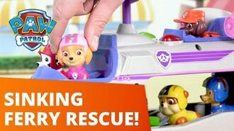 PAW Patrol Rescuing Animals From A Sinking Ferry! Toy Episode