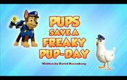 Pups Save a Freaky Pup-Day Title Card
