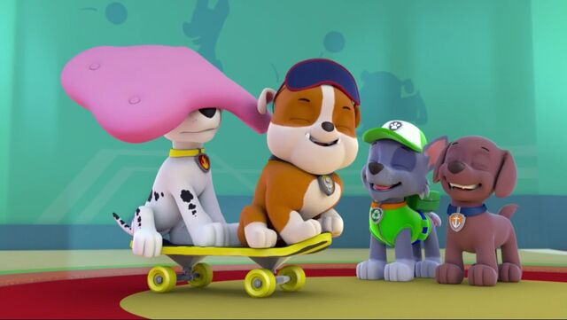 File:PAW Patrol Lost Tooth Scene 14 Marshall Rubble Rocky Zuma.jpg