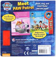 PAW Patrol Meet PAW Patrol Book Back Cover