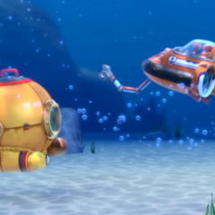 Diving Bell after being freed from the rocks by Zuma's sub in