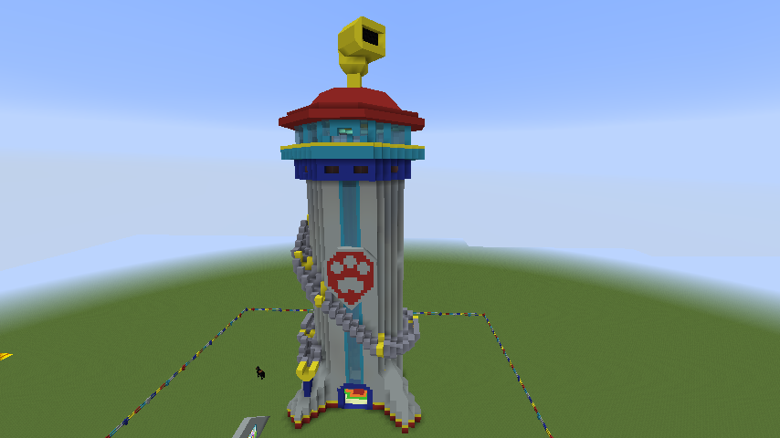 User blog rockyfan32 lookout minecraft map paw patrol for Building a lookout tower