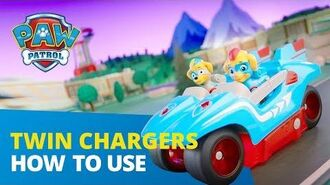 PAW Patrol How to Play Mighty Twins Power Split Vehicle PAW Patrol Official & Friends