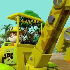 Rubble's bulldozer in jungle conversion